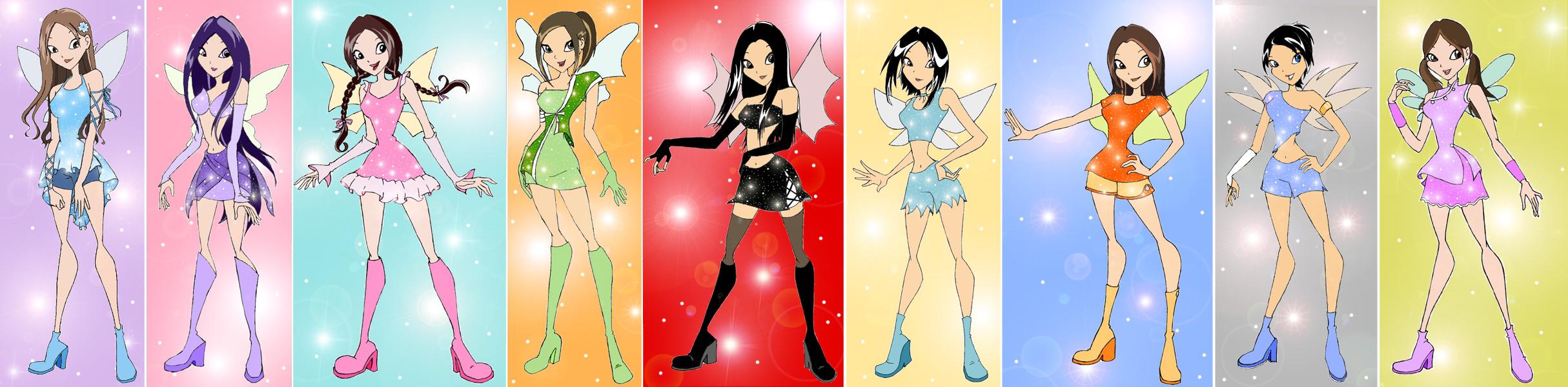 WinX original characters by schweetpink